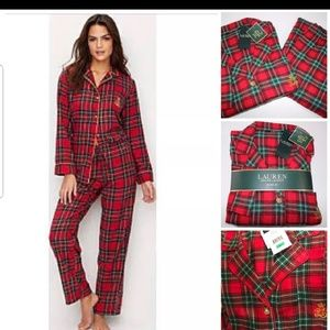 Ralph Lauren Plaid Pajama set